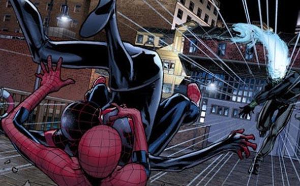 spidermen en spiderverse